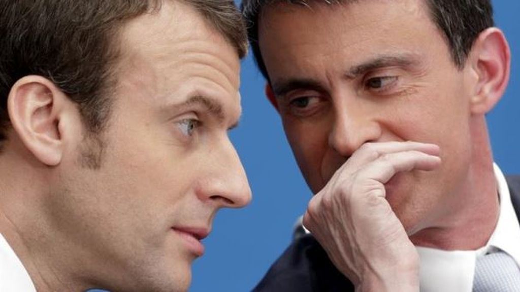 Macron, Valls