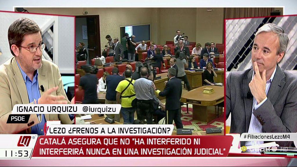 "I. Urquizu (PSOE), a J. Azcón (PP): ""Tenéis que quitar las manos de la justicia"""
