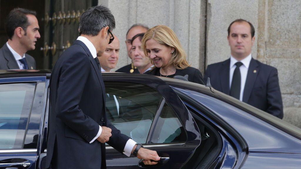 La Infanta Cristina regresa al Palacio Real por vez primera en cuatro años