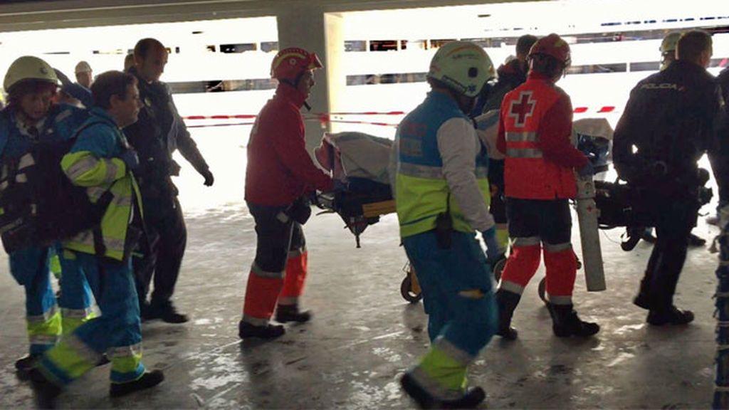 Un obrero herido muy grave al caerse de una escalera en las obras del Wanda Metropolitano