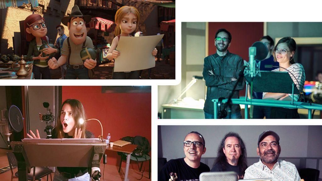 Michelle Jenner, Adriana Ugarte y José Corbacho, voces protagonistas de 'Tadeo Jones 2. El secreto del Rey Midas'
