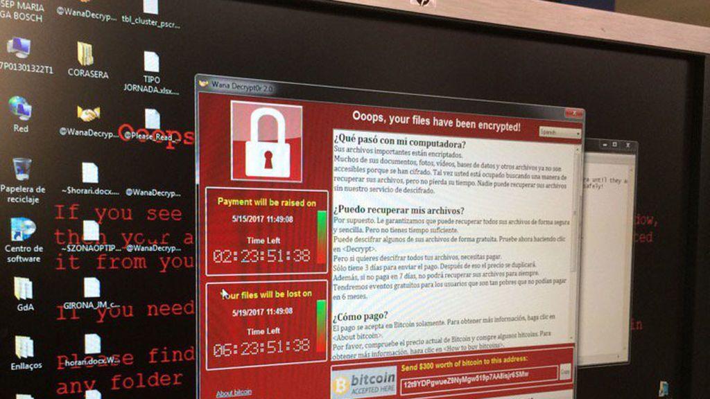 Pantallazo ransomware