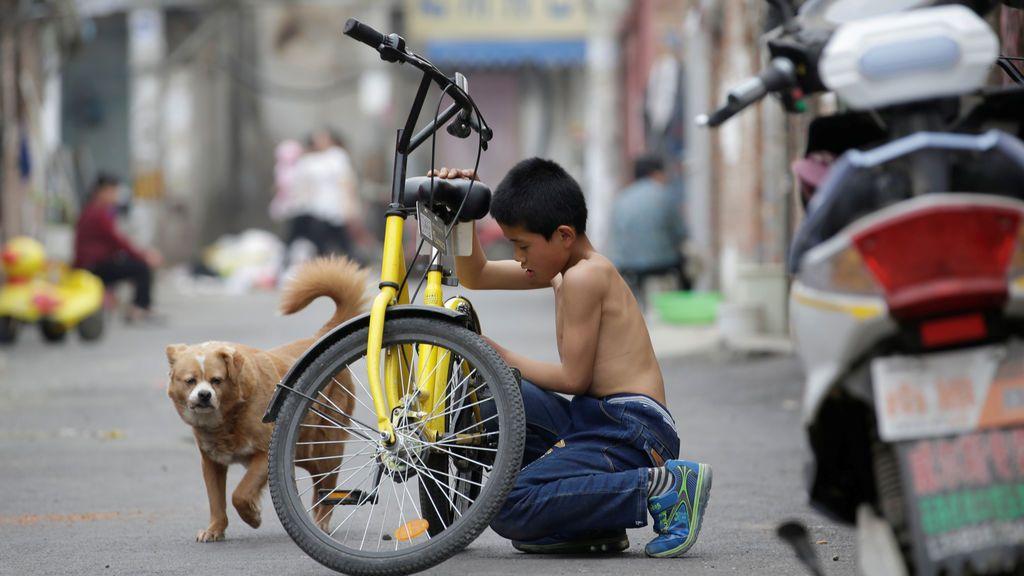 Migrantes a las afueras de Pekín
