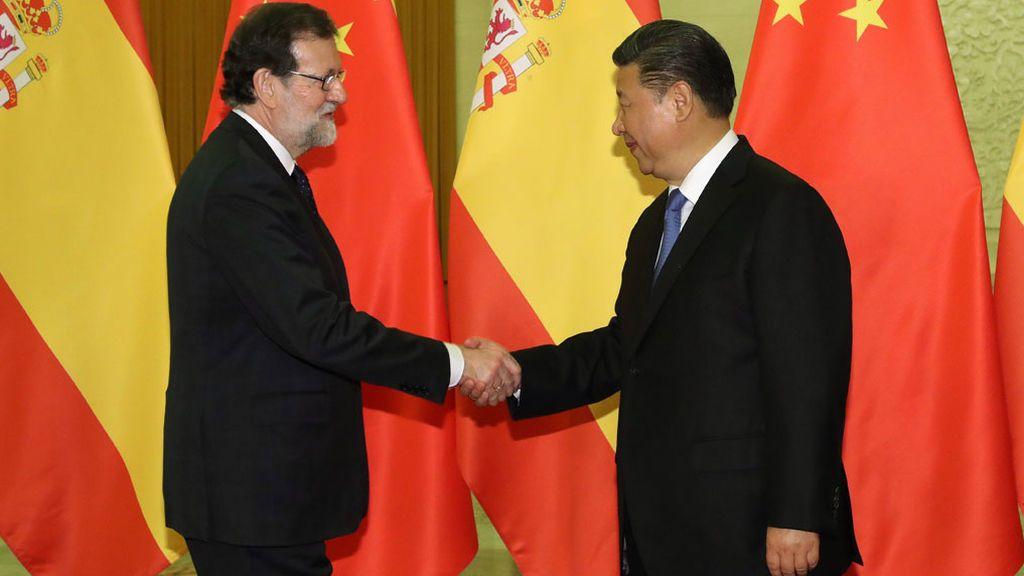 Rajoy se reúne con el presidente de China