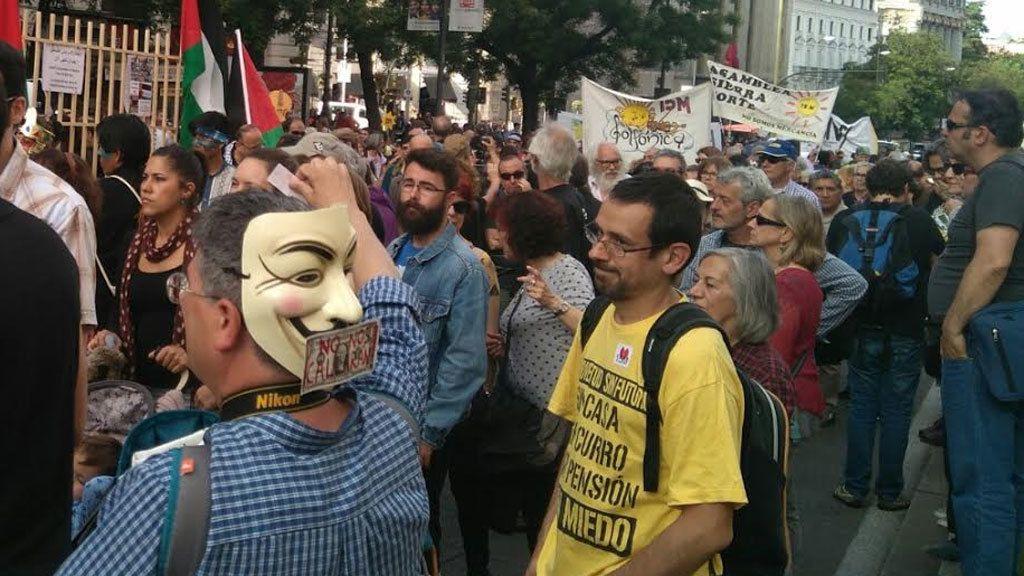 Una manifestación en Madrid celebra los 6 años del 15M