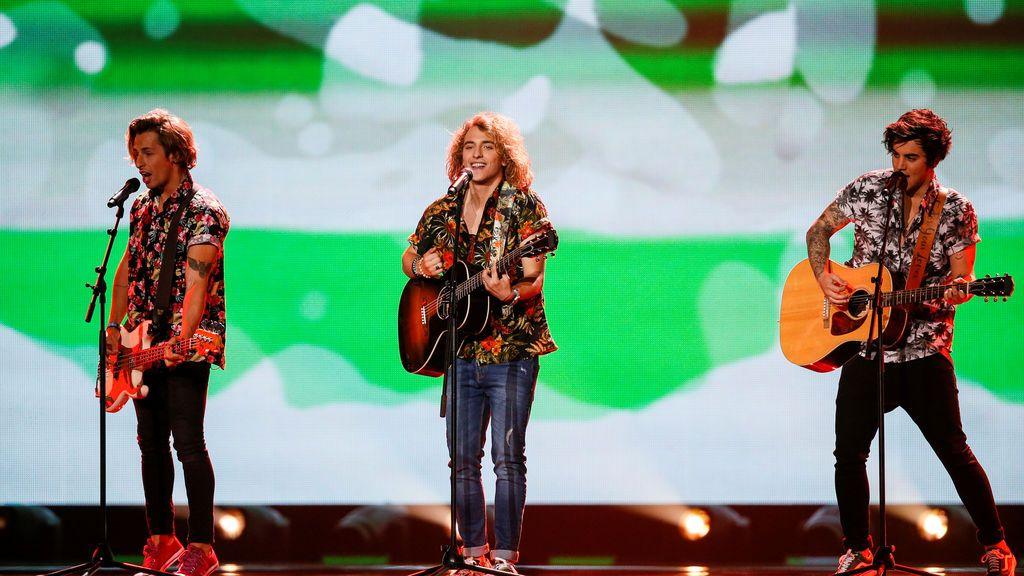 El gallo de Manel Navarro en Eurovisión arrasa en Internet
