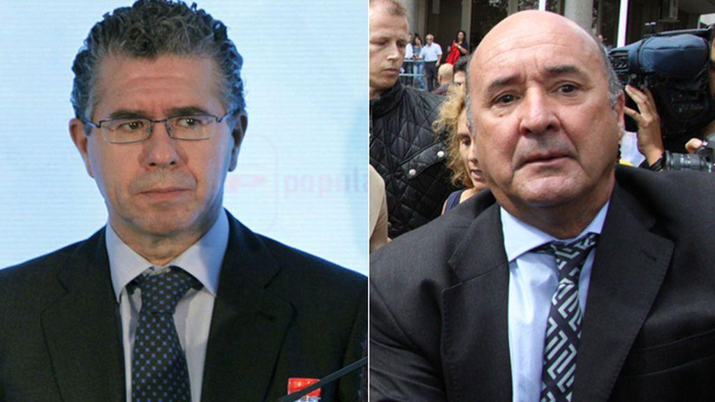 El exsecretario general del PP en Madrid Francisco Granados y el ex gerente regional Beltrán Gutiérrez