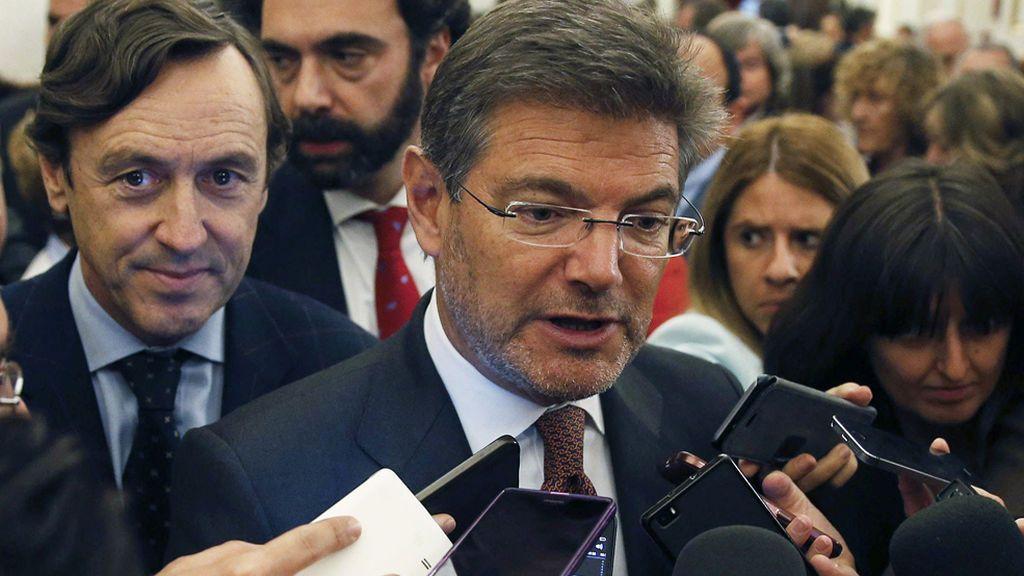 """Rafael Catalá: """"Es el presidente el que cesa a los ministros. Eso es lo democrático"""""""