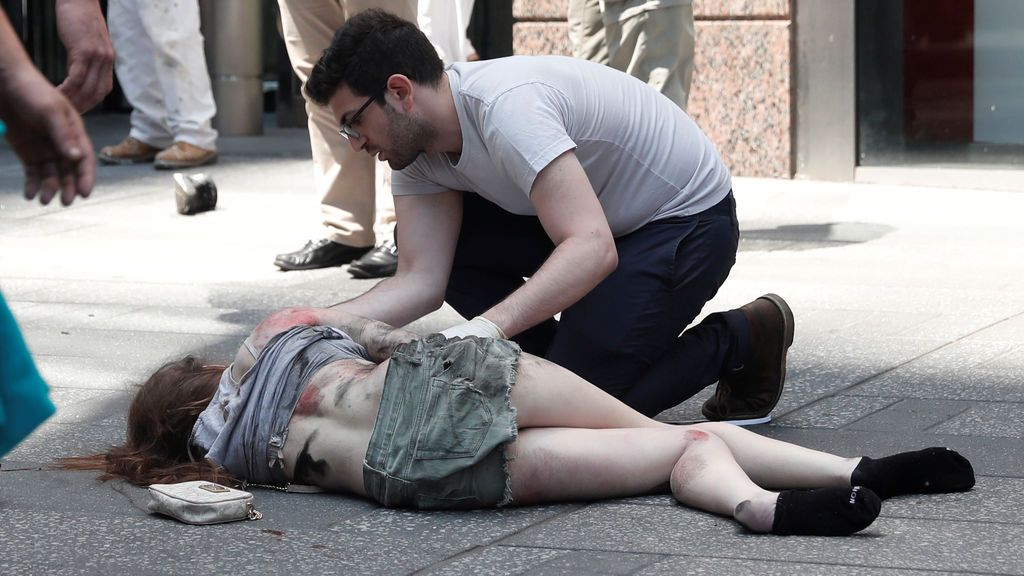 Las imágenes del atropello a varios peatones en Times Square