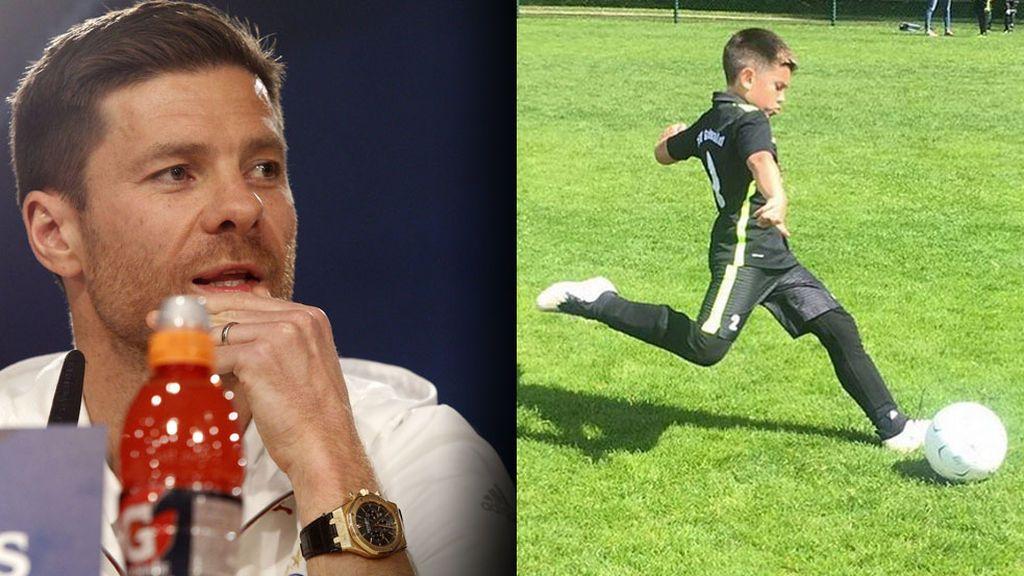 Jon, hijo mayor de Xabi Alonso, ilusiona como futbolista en la familia: ¡tiene la clase de su padre!