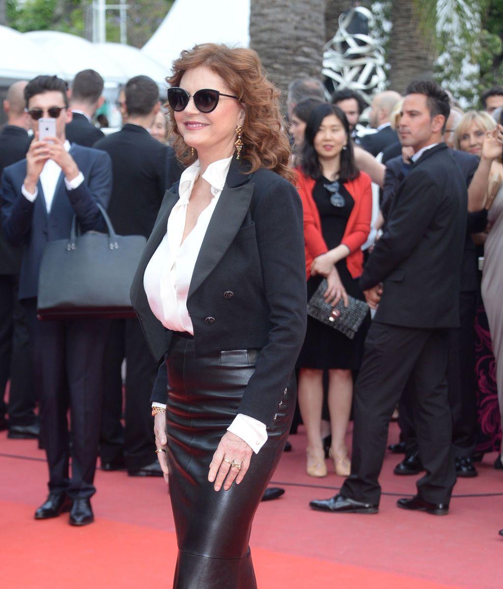 Susan Sarandon, espléndida en la alfombra roja de Cannes