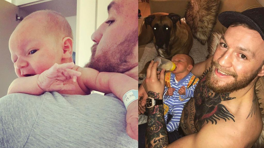 """""""¡Vamos a por uno de boxeo, hijo!"""" Mcgregor utiliza a su bebé recién nacido para provocar a Myweather en Instagram"""