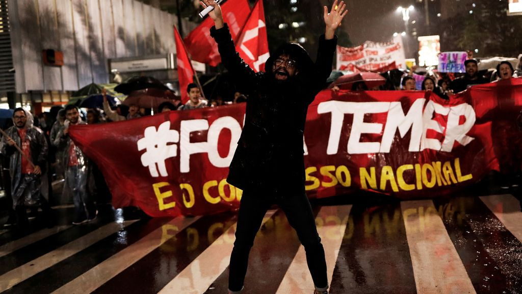 Protestas en Brasil contra el presidente Temer, envuelto en un escándalo de corrupción