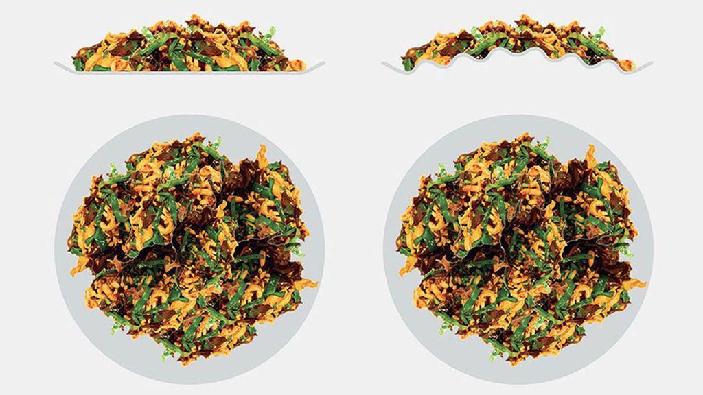 ¿Puede un plato 'arrugado' ayudar a perder peso?