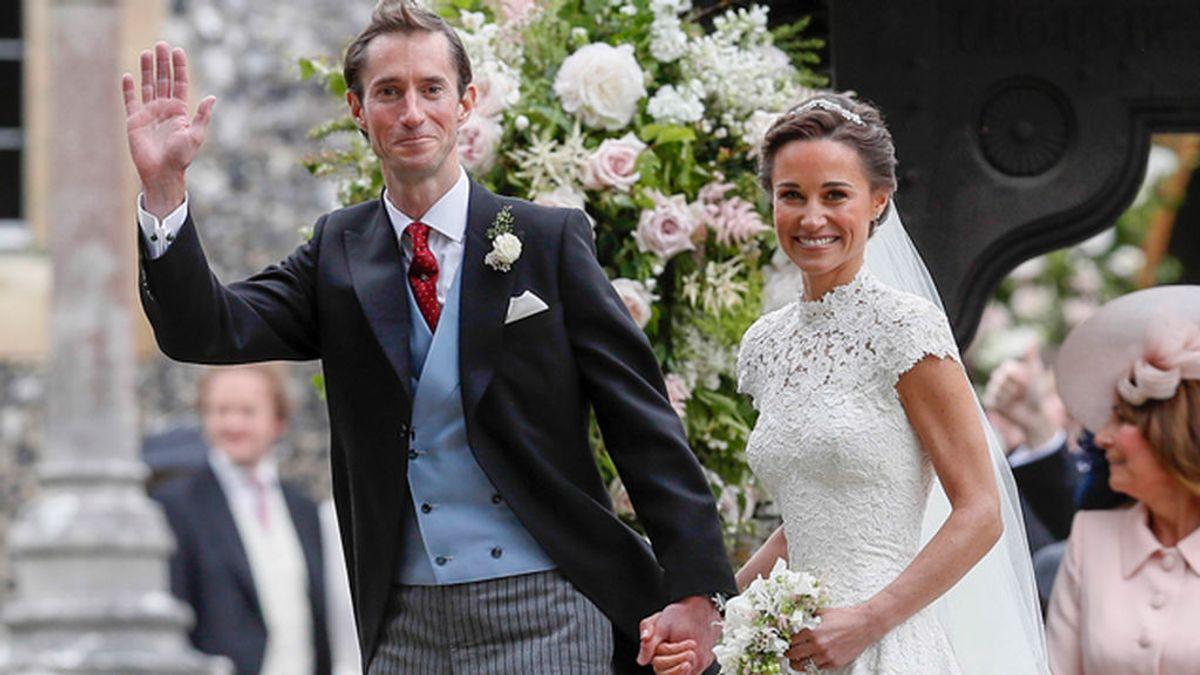 ¡Recién casados! Primera imagen de Pippa Middleton y su marido, James Matthews