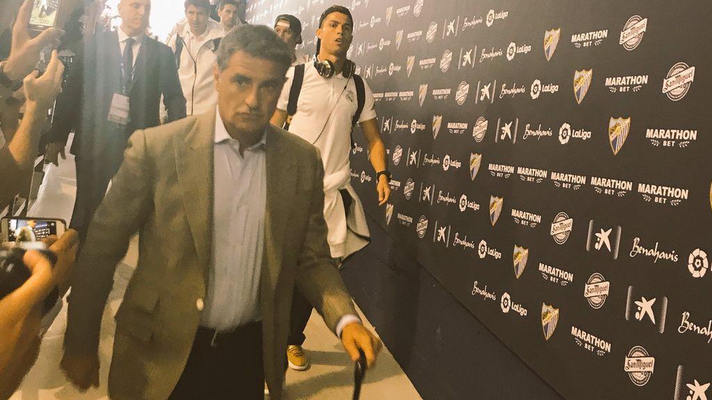 Vuelve la polémica: Michel 'encabeza' la expedición del Real Madrid en Málaga