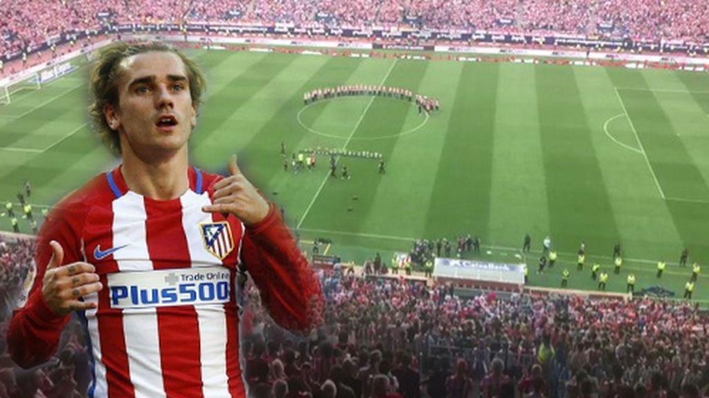 """Griezmann salta y canta """"madridista el que no bote"""" en la celebración del Atlético"""