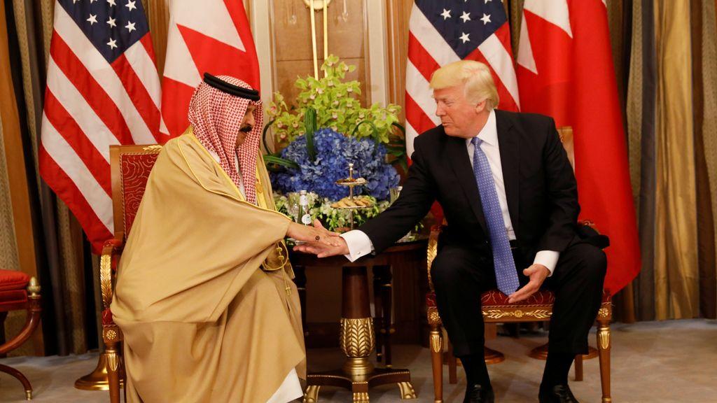 Donald Trump en su gira internacional por Arabia Saudí