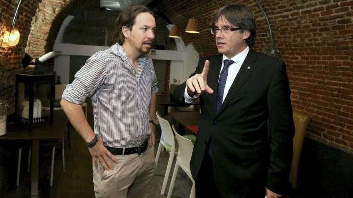 Pablo Iglesias se reúne con Puigdemont en Madrid antes de su acto en el Ayuntamiento