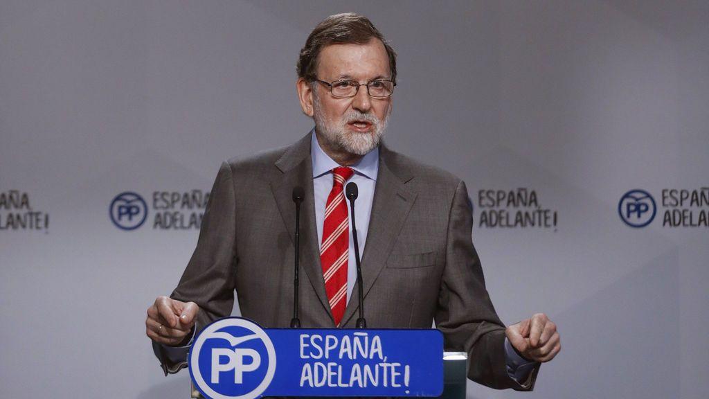 Mariano Rajoy comparece ante los medios  tras presidir la reunión del Comité Ejecutivo Nacional del PP