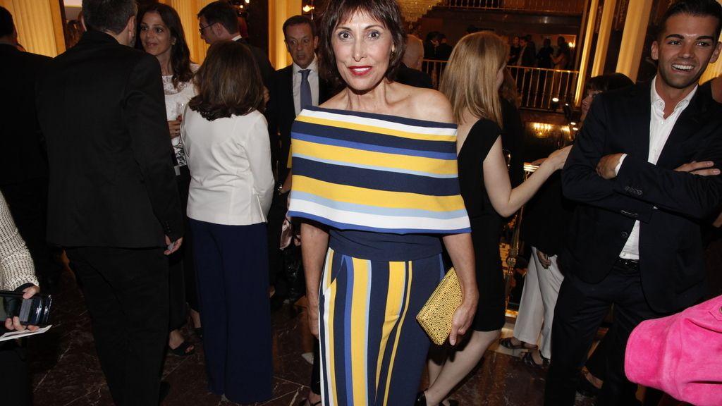 La actriz María Barranco fue con este colorido jumpsuit