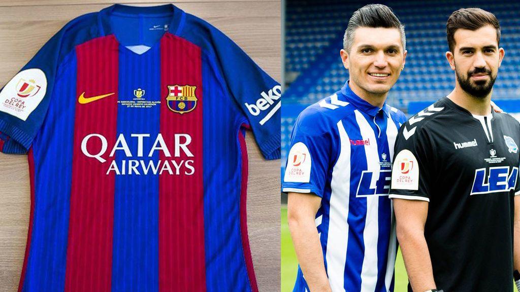 Las camisetas de la final de la Copa del Rey: así jugarán Barcelona y Alavés