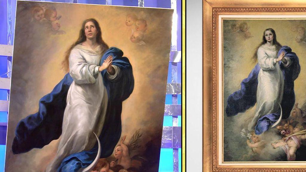 Así es el cuadro de 'La Inmaculada del Escorial' protagonizado por María Patiño
