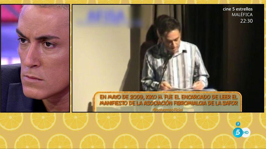 Kiko Hernández leyó un manifiesto a favor de la fibromialgia en 2009