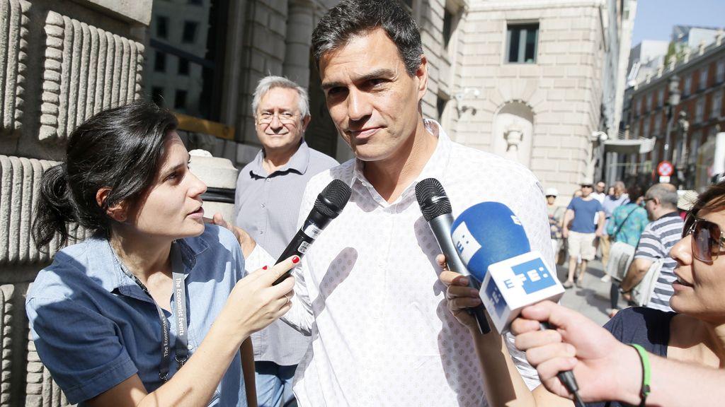 Pedro Sánchez regresa al Congreso al frente del PSOE