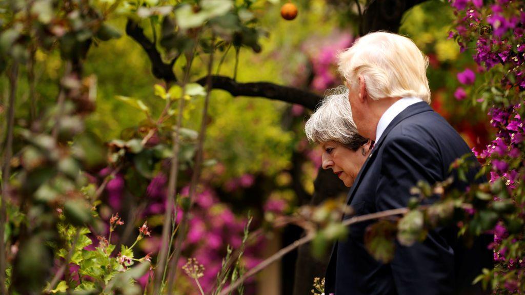 Donald Trump y Theresa May, tras la cumbre del G7