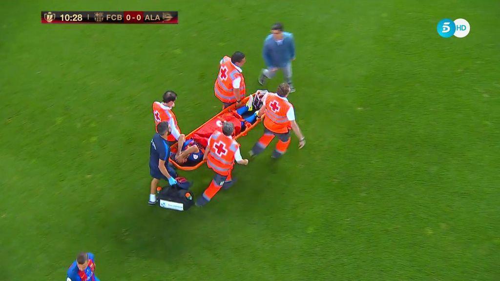 ¡Deportividad total! El Calderón despide con una atronadora ovación a Mascherano tras el duro golpe en la cabeza