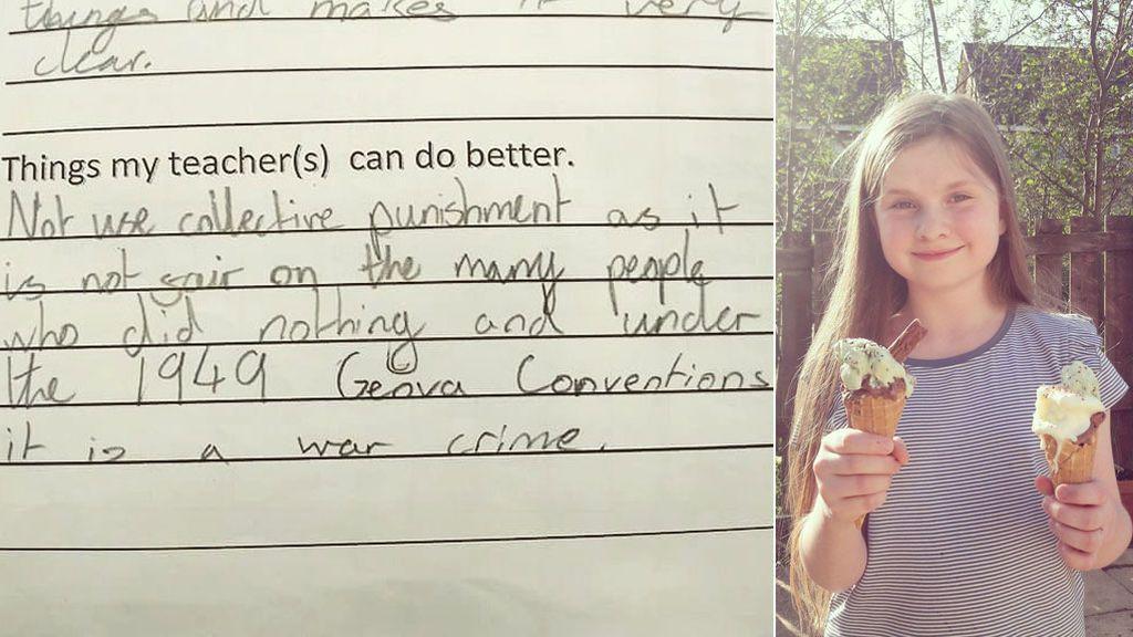 La inteligente respuesta de una niña de 11 años a su profesora