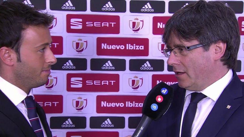 """Carles Puigdemont: """"En este palco siempre me han tratado de fábula"""""""