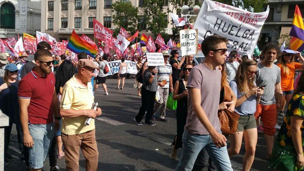Errejón en las Marchas de la Dignidad