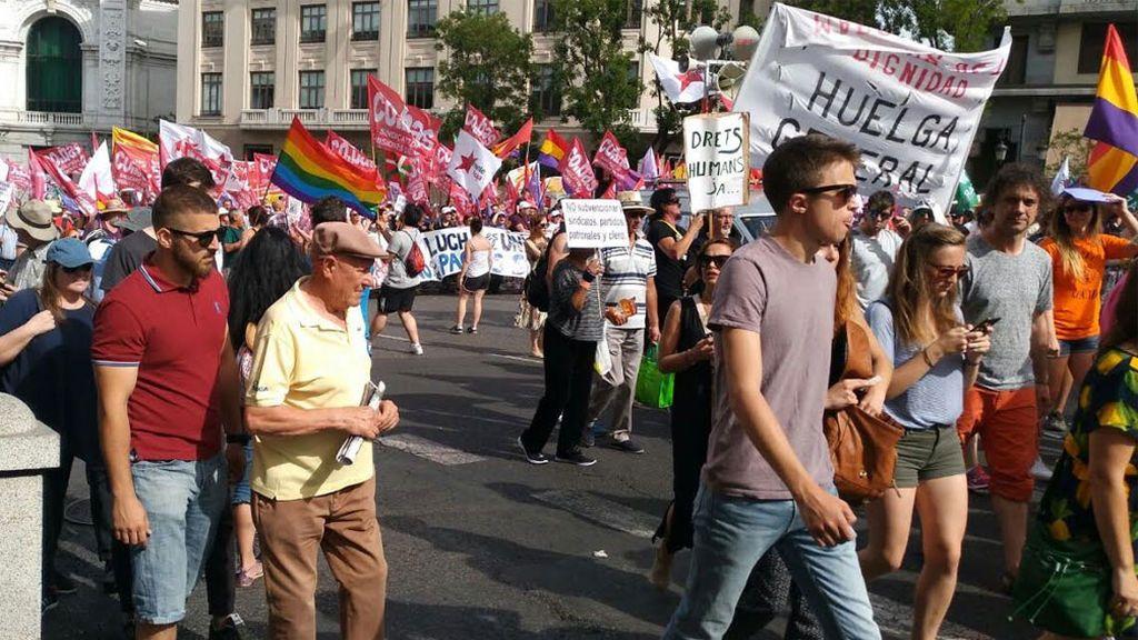 Iñigo Errejón en las Marchas de la Dignidad