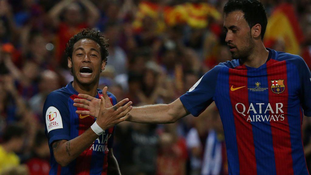 Neymar encarrila la final para el Barça culminando una contra (2-1)