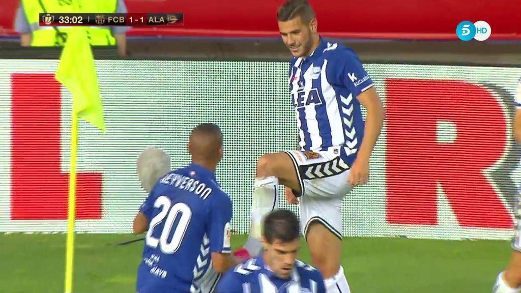 ¡Qué escándalo! 19 años y Theo Hernández marca este golazo de falta para empatar la final de Copa (1-1)