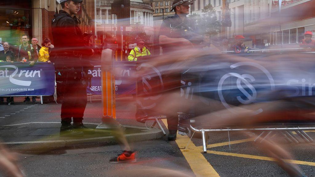 Fuertes medidas de seguridad durante la Maratón de Manchester