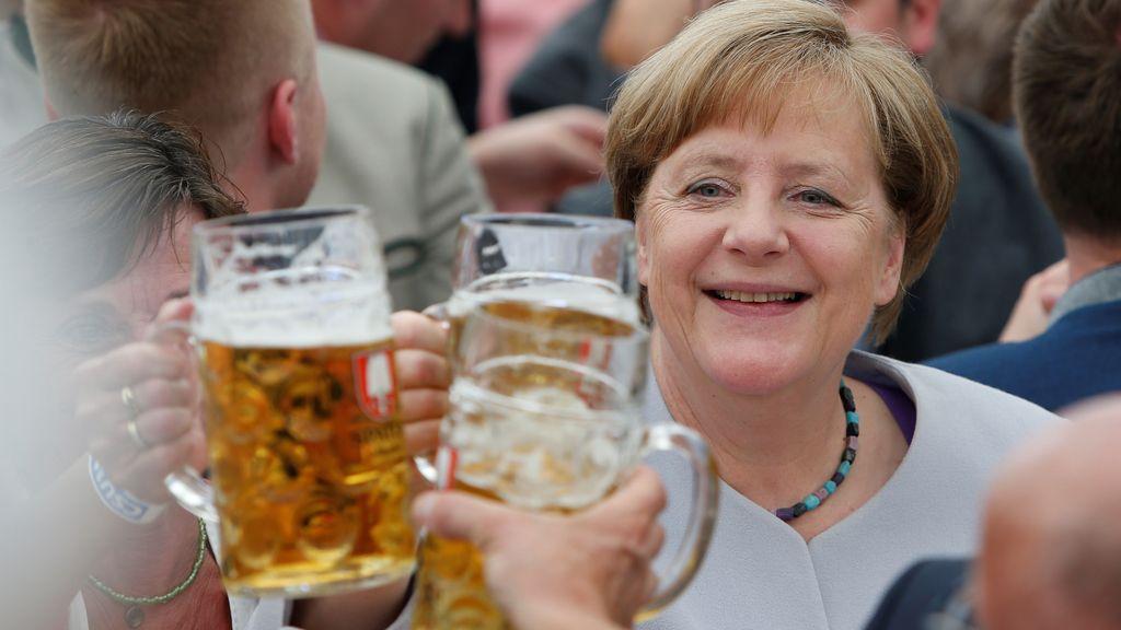Angela Merkel en el festival de Trudering en Múnich