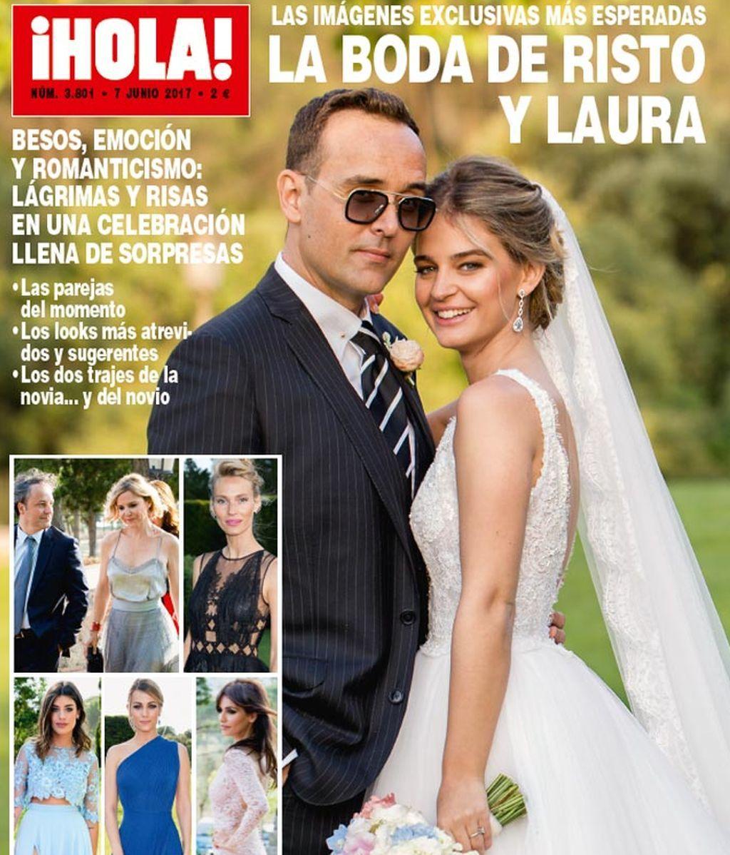 Aciertos y errores de la boda de Laura Escanes y Risto Mejide