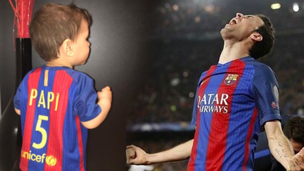 Ternura infantil en acción: Enzo Busquets imita a su padre en el Calderón