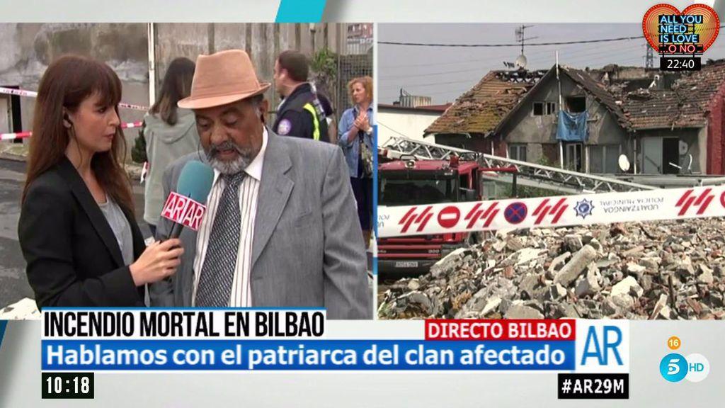 """José, patriarca del clan afectado por el incendio con cuatro muertos en Bilbao: """"Las soluciones llegan tarde"""""""