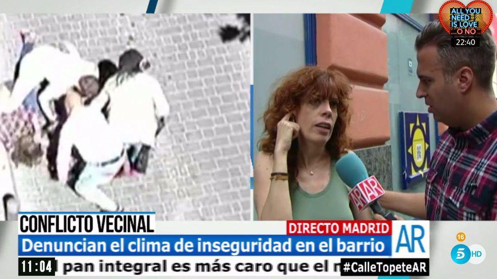 """María José, vecina de la calle Topete (Madrid): """"Esto es el Bronx"""""""