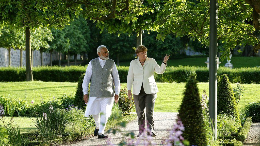 Reunión de Angela Merkel y el primer ministro indio Narendra Modi