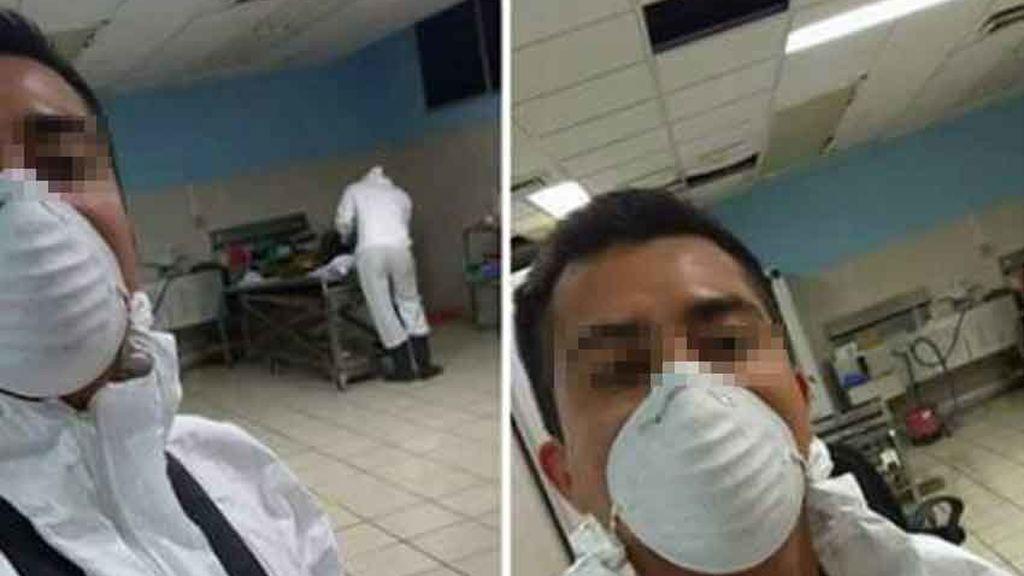 Despedido por hacerse un selfi en la morgue y compartirlo en la Red
