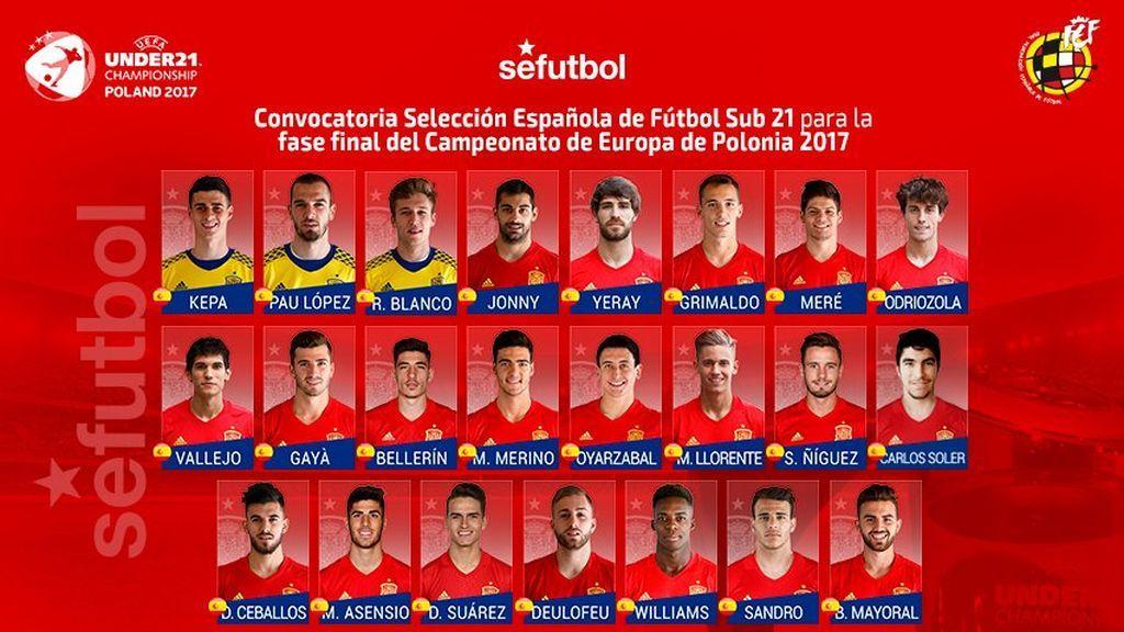 Carlos Soler, gran novedad con España Sub-21 de cara a la Eurocopa de Polonia en la que no estarán Óliver Torres ni Munir