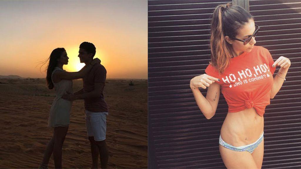 La periodista deportiva Melissa Jiménez y su chico, al sol rico de Dubái