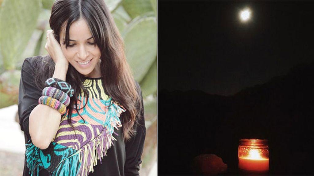 Raquel del Rosario a la luz de las velas...y de la 'Superluna'