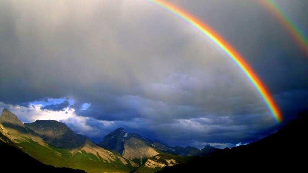 La ficción hecha realidad: cuando un arcoíris es igual al de las películas
