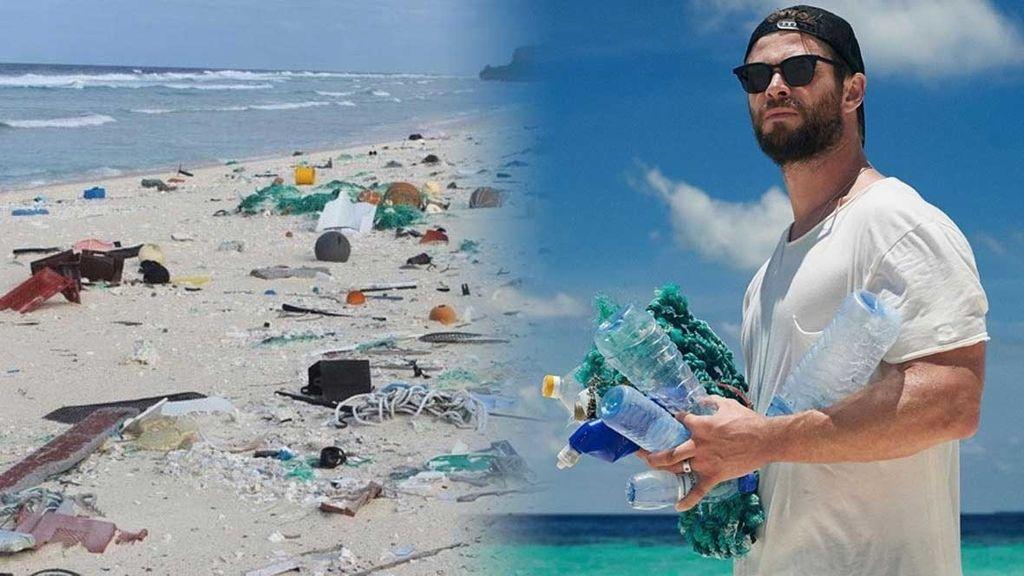 El actor Chris Hemsworth quiere combatir la presencia de plásticos en las playas